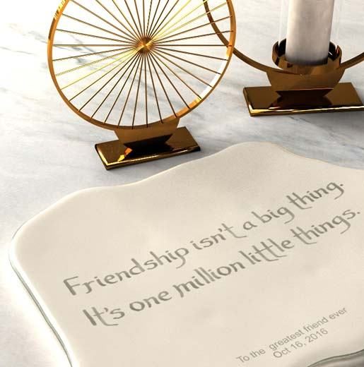 bespoke dinnerware friends reunion party plate