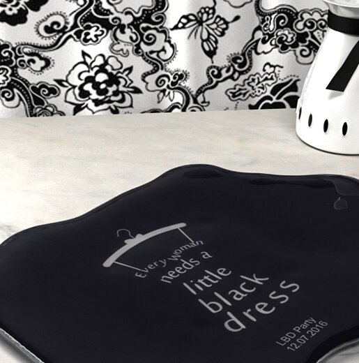 bespoke dinnerware little black dress party plate