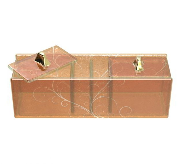 Modern Gold Sugar Packet Caddy Designed by Anna Vasily - 3/4 View