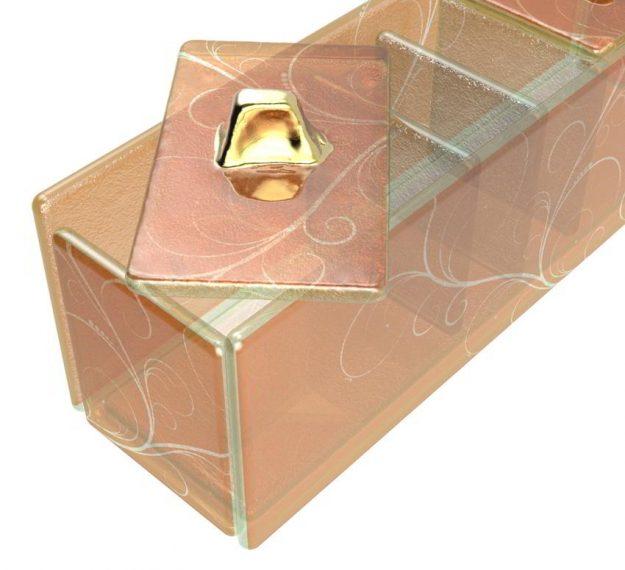 Modern Gold Sugar Packet Caddy Designed by Anna Vasily - Detail View