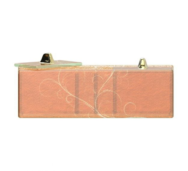 Modern Gold Sugar Packet Caddy Designed by Anna Vasily - Side View