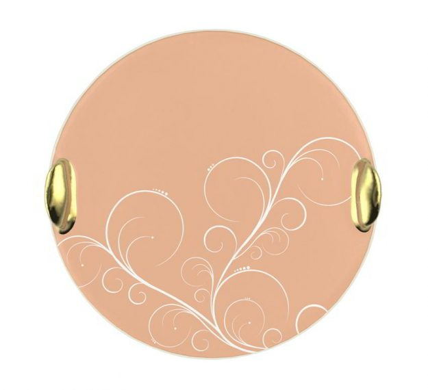 Rose Gold Desserts Platter Designed by Anna Vasily - Top View