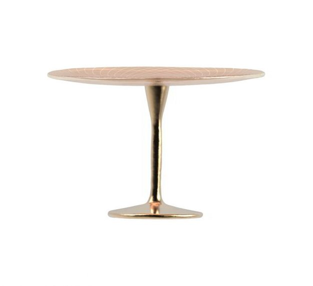 Round Rose Gold Cake Stand for a Flash of Luxe by Anna Vasily - Side View