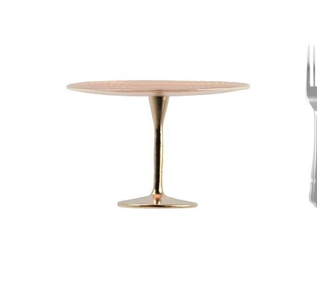 Round Rose Gold Cake Stand for a Flash of Luxe by Anna Vasily - Measure View