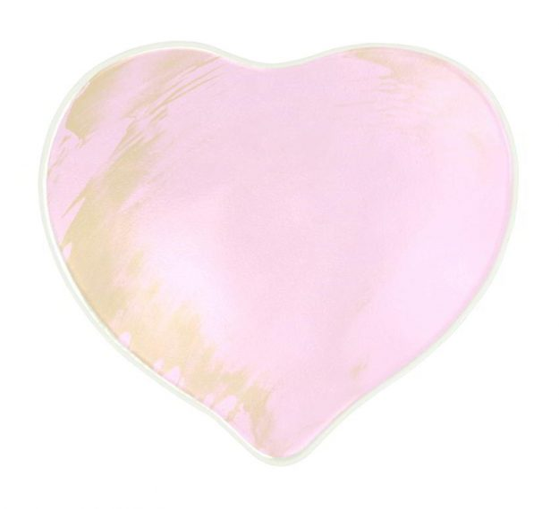 Pink Heart Plates for Romantic Valentine's Day in Bed by Anna Vasily - Top View