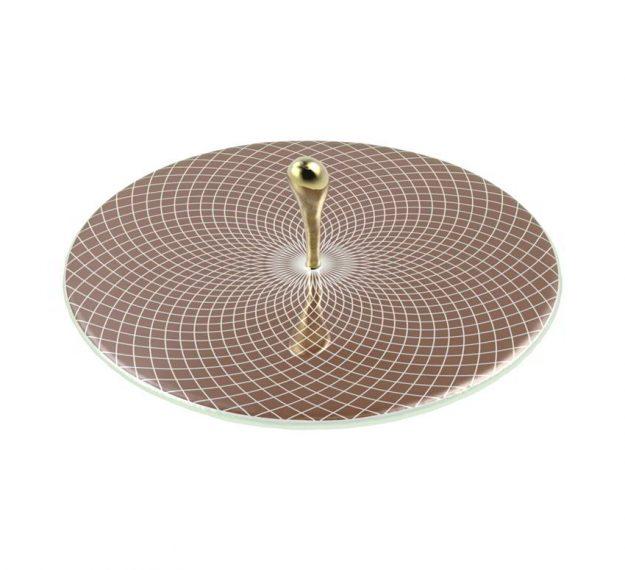 Elegant & Modern Round Serving Platter Designed by Anna Vasily - 3/4 View