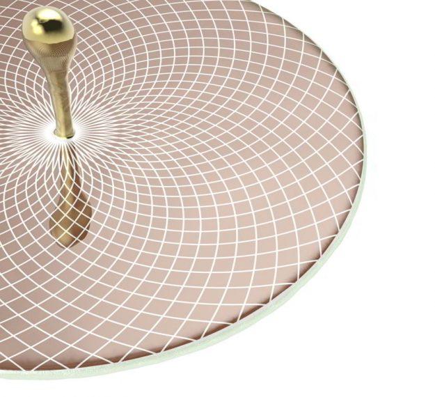 Elegant & Modern Round Serving Platter Designed by Anna Vasily - Detail View