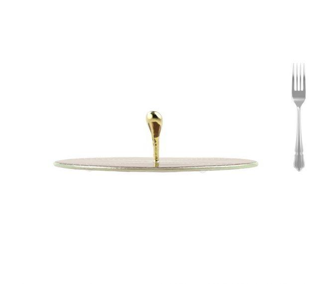 Elegant & Modern Round Serving Platter Designed by Anna Vasily - Measure View