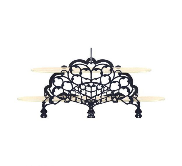 Elegant High Tea Stand With Delicate Metalwork by Anna Vasily - Side View