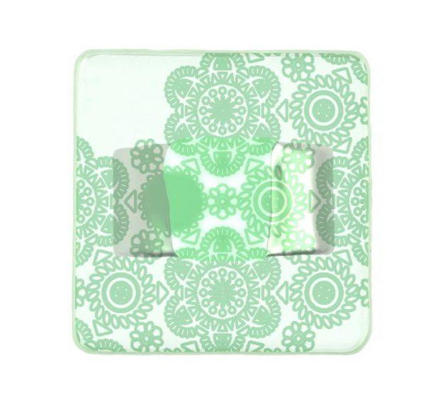 Green napkin holder