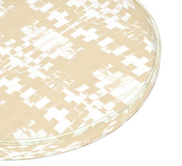 Cream serving platter