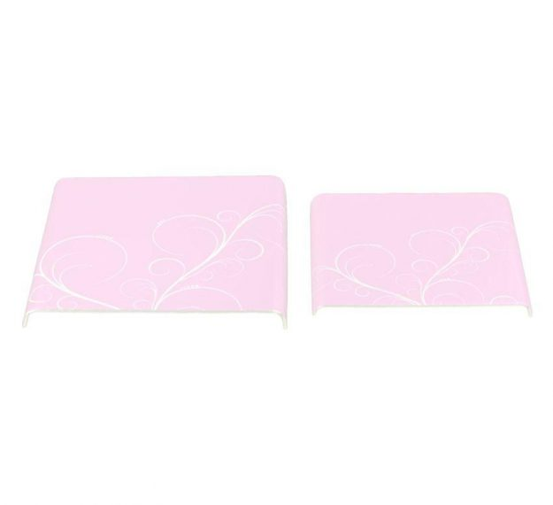 Feminine Pink Platters with Floral Pattern Designed by Anna Vasily - 3/4 View