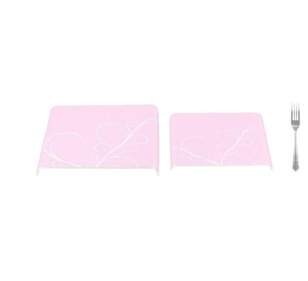 Feminine Pink Platters with Floral Pattern Designed by Anna Vasily - Measure View