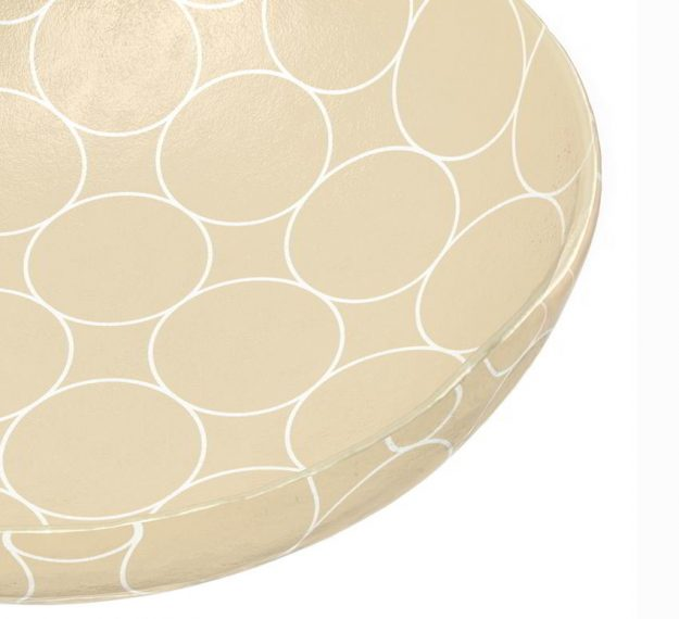 Large Glass Serving Bowl A Retro Accent by Anna Vasily - Detail View