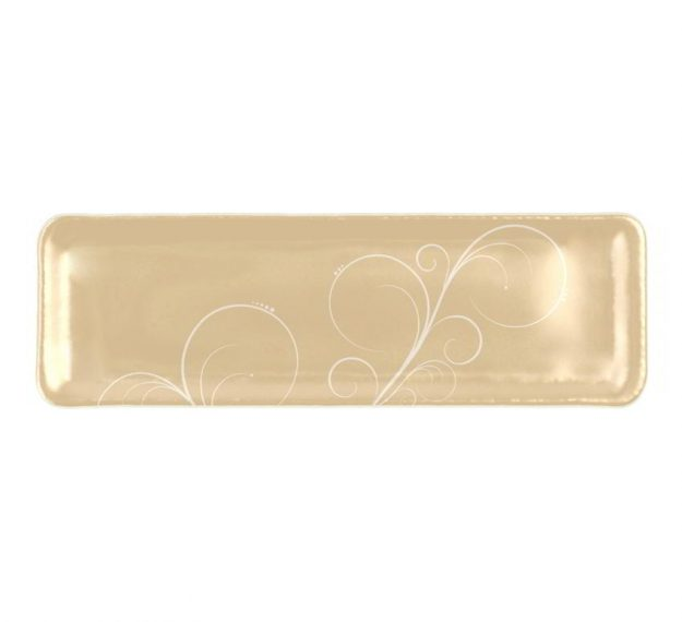 Handcrafted Rectangular Petit Fours Plate Designed by Anna Vasily - Top View