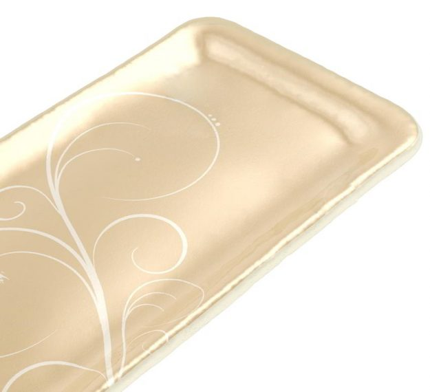 Handcrafted Rectangular Petit Fours Plate Designed by Anna Vasily - Detail View