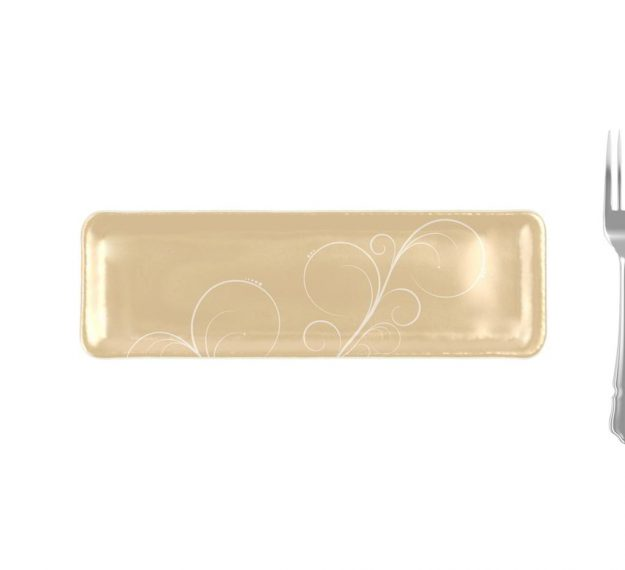Handcrafted Rectangular Petit Fours Plate Designed by Anna Vasily - Measure View