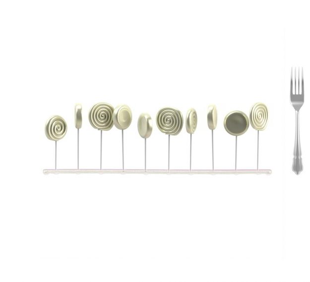 Pink Lollipop Stand Designed by Anna Vasily - Measure View