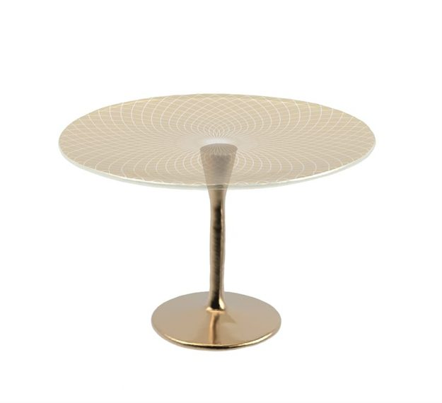 Tall Cake Stand on Pedestal for Stylish Cake Displays by Anna Vasily - 3/4 View