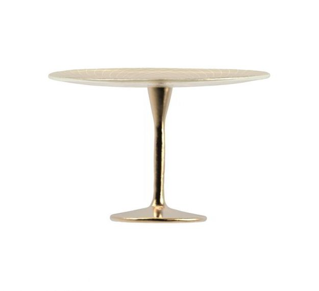 Tall Cake Stand on Pedestal for Stylish Cake Displays by Anna Vasily - Side View
