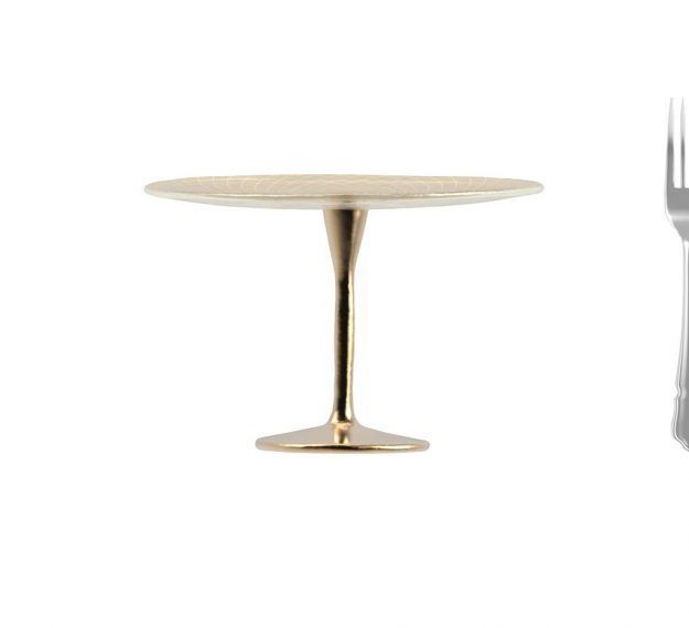 Tall cake stand on pedestal