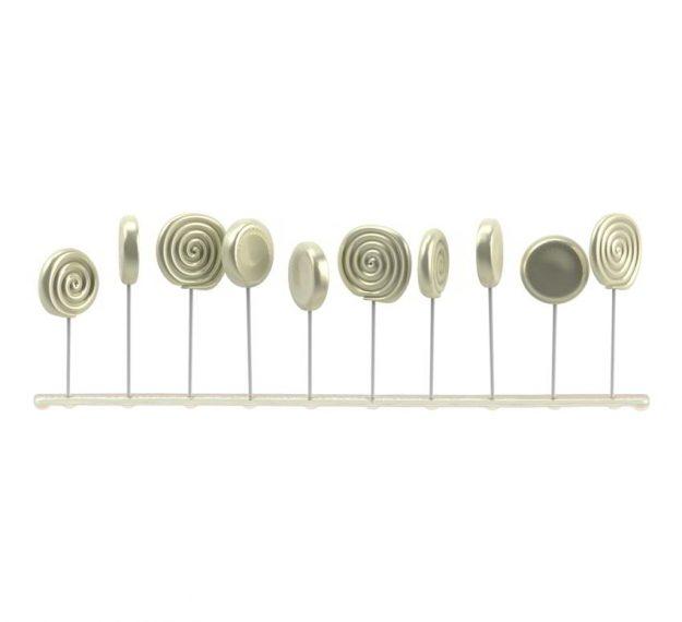 Elegant Lollipop Stand Display Designed by Anna Vasily - Side View