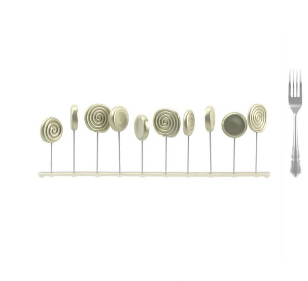 Elegant Lollipop Stand Display Designed by Anna Vasily - Measure View