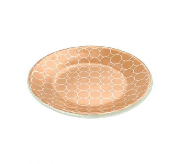 Small matte gold side plate
