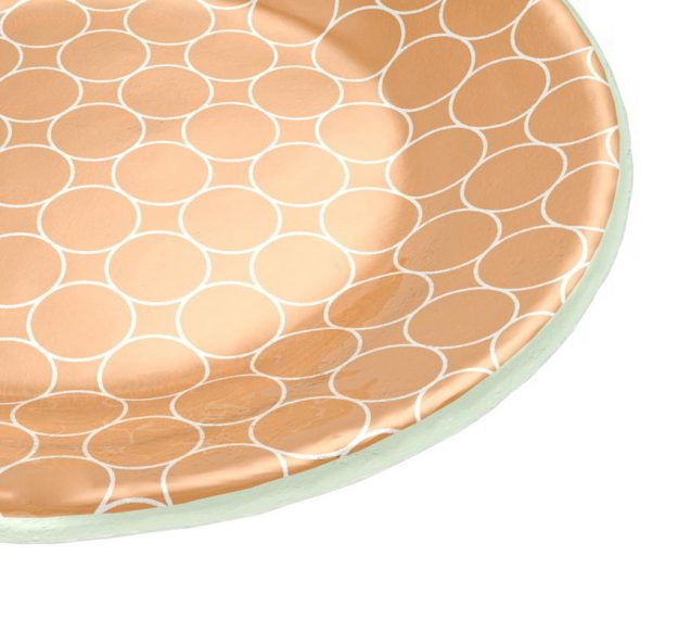 Gold Side Plates Set of 6 Glass Side Plates by Anna Vasily - Detail View
