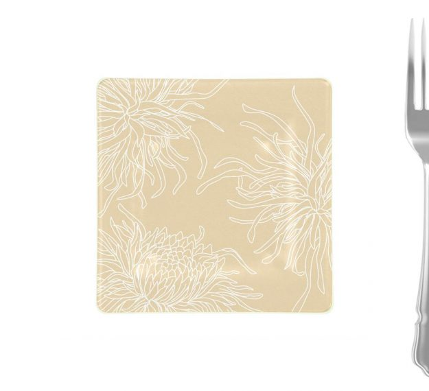 Patterned Side Plates Designed with Style by Anna Vasily - Measure View