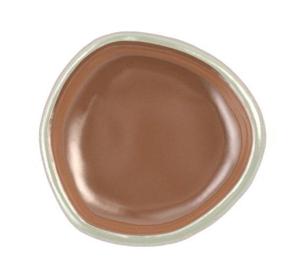 Brown mini canape dish