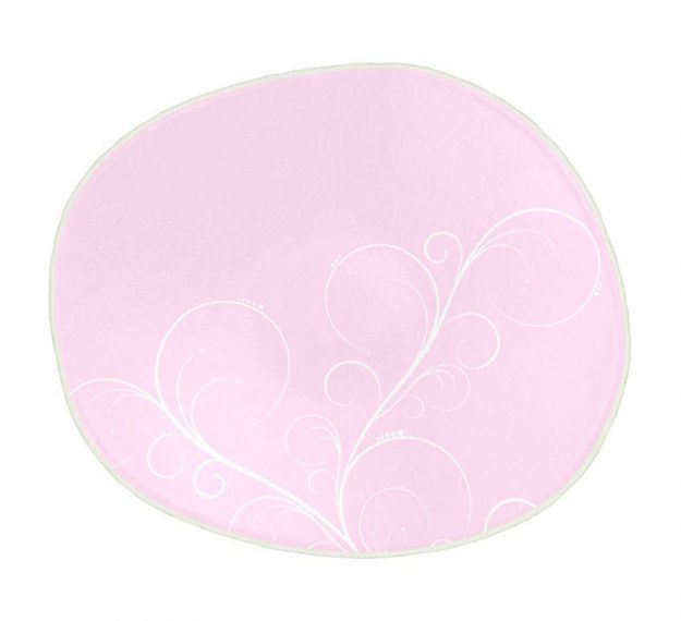 Pastel Pink Dessert Plates Feminine Grace by Anna Vasily - Top View