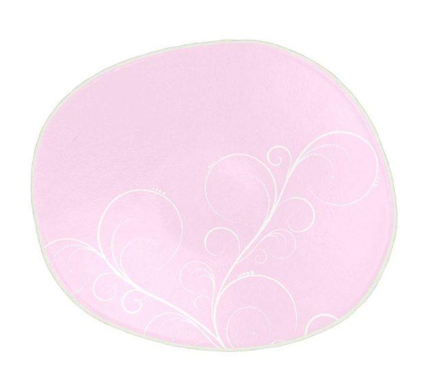 Playful pink dessert plate