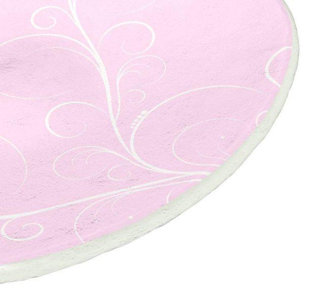 Pastel Pink Dessert Plates Feminine Grace by Anna Vasily - Detail View