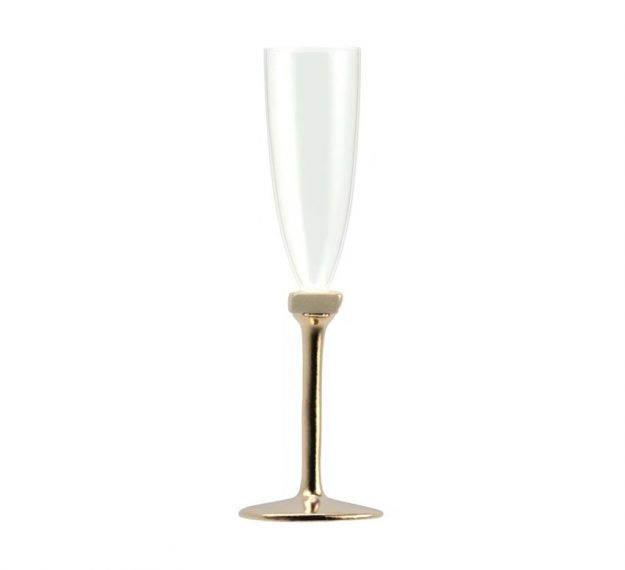 Modern Champagne Glasses, Set of 2, Stylishly Made by Anna Vasily - Side View