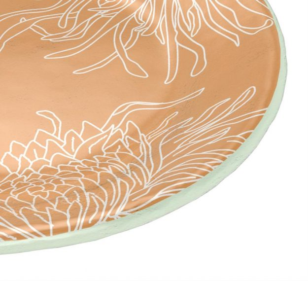 Gold Floral Side Plates A Set/6 Floral Round Plates by Anna Vasily - Detail View