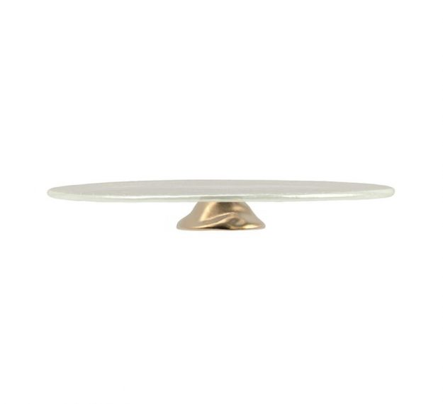White Pedestal Cake Stand Understated Elegance by Anna Vasily - Side View