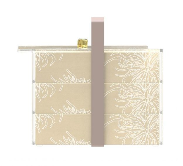 Floral Patterned Luxury Bento Box Designed by Anna Vasily - Side View