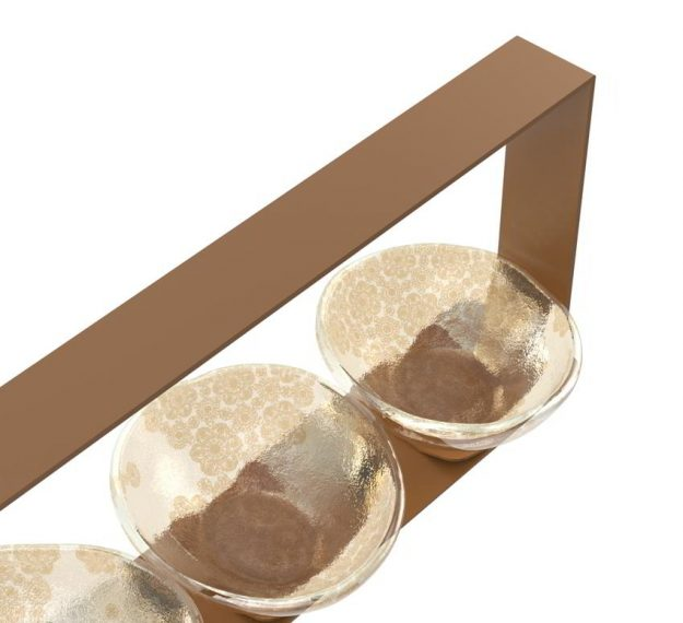 Nut bowl caddy set with bowls
