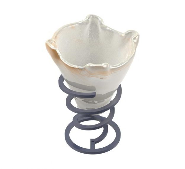 Cute Ice Cream Bowls with Spiral Stand Designed by Anna Vasily - 3/4 View