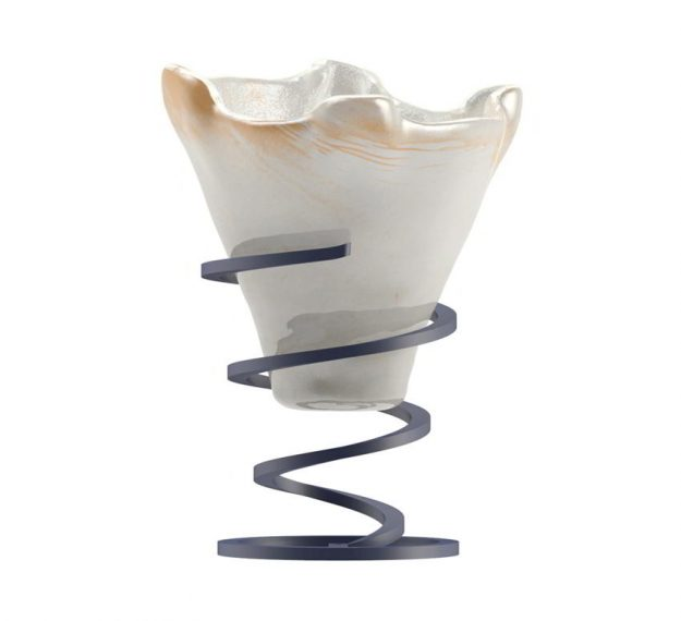 Cute Ice Cream Bowls with Spiral Stand Designed by Anna Vasily - Side View
