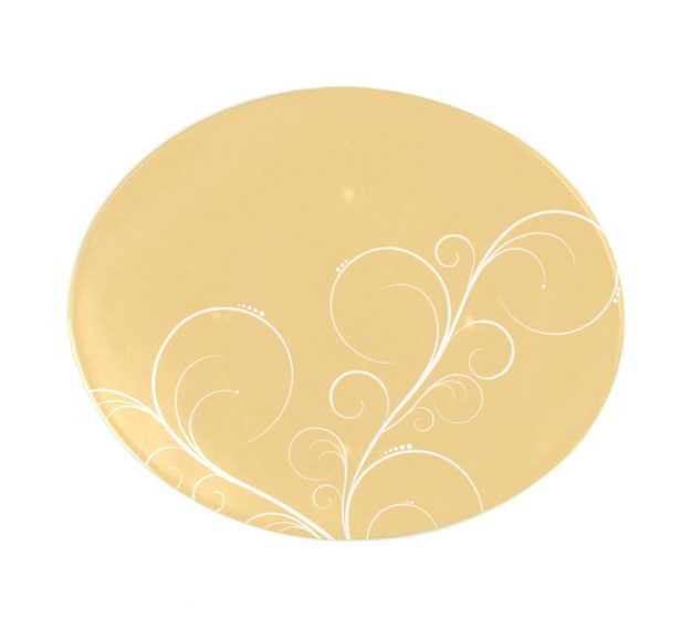 Yellow Gold Charger Plates, Naturally Gorgeous Design by Anna Vasily - Top View