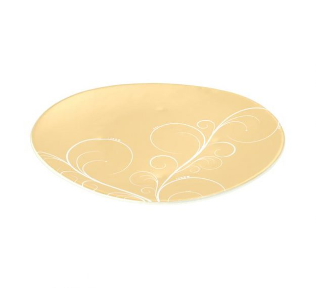 Yellow Gold Charger Plates, Naturally Gorgeous Design by Anna Vasily - 3/4 View