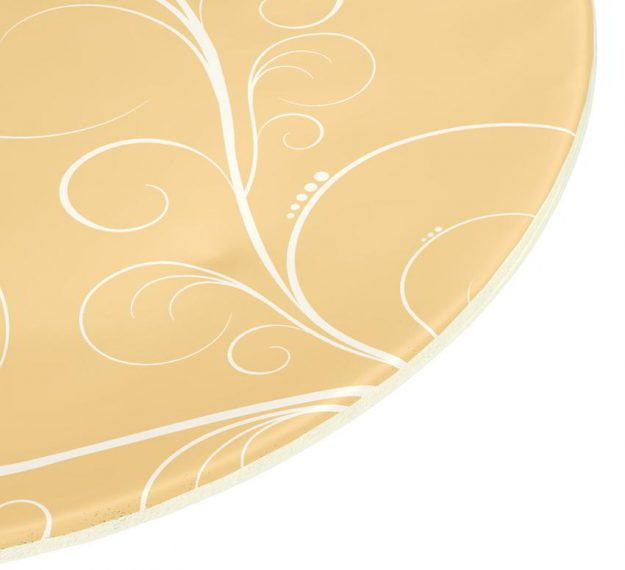 Yellow Gold Charger Plates, Naturally Gorgeous Design by Anna Vasily - Detail View