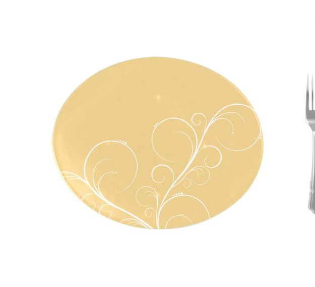Yellow Gold Charger Plates, Naturally Gorgeous Design by Anna Vasily - Measure View