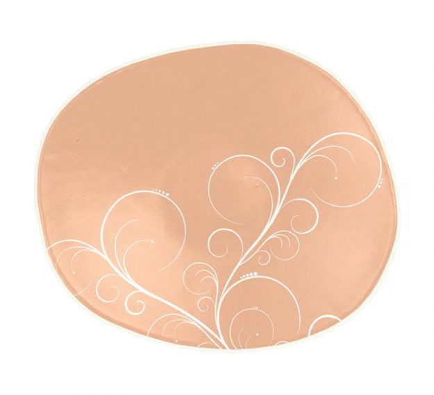 Rose Gold Bread Plate In Organic Form Designed by Anna Vasily - Top View