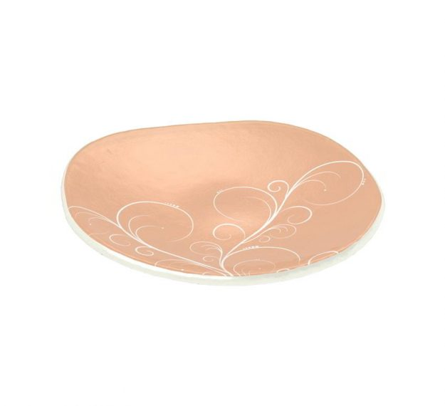 Rose Gold Bread Plate In Organic Form Designed by Anna Vasily - 3/4 View