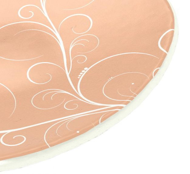 Rose Gold Bread Plate In Organic Form Designed by Anna Vasily - Detail View