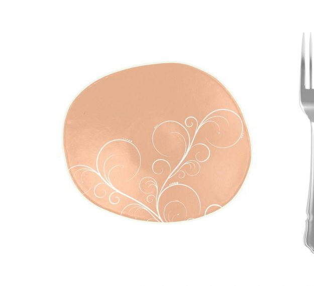 Rose Gold Bread Plate In Organic Form Designed by Anna Vasily - Measure View