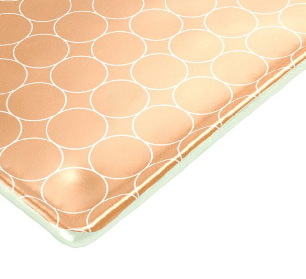 Rectangular Gold Glass Cheese Platter Designed by Anna Vasily - Detail View